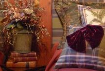 Pheasant Hunt / Beautiful Scottish tartan plaids in a country estate setting were the inspiration for the Pheasant Hunt Collection of bedding, pillows, window treatments and table linens.
