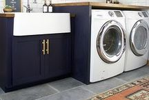 Laundry Room Decor and Style Ideas / Laundry Room Decor, Laundry Room Style Ideas, Laundry Room Inspiration. Beautiful laundry rooms to emulate.