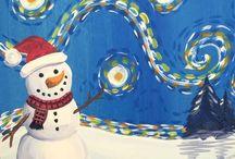 Acrylic Paintings Christmas & Winter