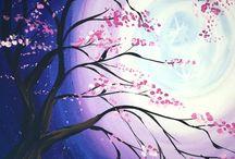 Acrylic Paintings Trees