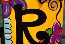 Acrylic Paintings Monogrammed