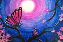 Acrylic Paintings Spring, Easter & St. Patty's Day