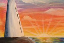 Acrylic Paintings Nautical/ Ocean
