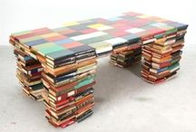 Book Art / Things made with books. Many artistic creations and practical uses!