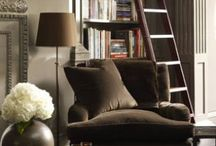 { NOOKS and BOOKS } /  Places  to curl up and read  / by {C} Taje~Dixon