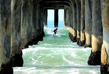 Surfs Up / If we had a middle name, it would be surfing. Huntington Beach = Best. Waves. Ever.  From the Vans US Open of Surfing to the International Surfing Musum, we're home to amazing waves and famous names. #huntingtonbeachsurfing