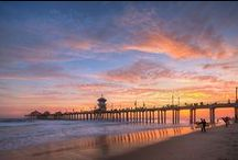 Huntington Beach Pier / Our 1,850 foot pier offers one of the best Southern California ocean views. Ever. Walk on it, eat on it, fish on it, shop on it, meet on it or just watch the gorgeous sunsets over it. From Farmer's Markets to the iconic Ruby's Diner, it's a must-visit Orange County destination. #huntingtonbeachpier
