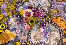 My Beaded Art Quilts and Art Quilts I Like / Examples of my art quilts  and those of others that are embellished with buttons and beads and all manner of wonderful things. I LOVE frou-frou!!!  / by Fiber Fantasies - art quilts