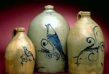 Antique Stoneware Crocks, Jugs, Pitchers and more! / Antique Stone ware / by Kathy Etheridge