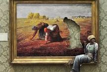 Admiring Art / From whimsical, to morbid, to surreal to realist, I appreciate so many different types of art.