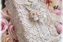 Exquisite Lace / I dream of lace and use it as a delightful embellishment to my life.  Lace is meant to be used.  These pieces are exquisite and memorable.