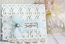 Becca - Quietfire Design / Currently an Alumni Quietfire Design Team member and Affiliate Blogger, Quietfire Design features lovely hand penned works from Suzanne Cannon, professional calligrapher.  Primarily sentiment stamps, they are an elegant addition to any card, mixed media project, journal or scrapbook.
