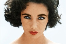 Liz / Elizabeth Taylor not only had violet eyes, but an extra row of eyelashes to frame them.  Elizabeth Rosemond Taylor 27 February 1932 - 23 March 2011 / by Patricia Conlon