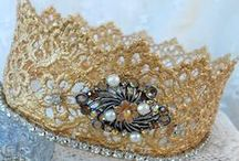 Handmade Crowns / Who doesn't feel like a princess wearing a tiara or a crown.  For the queen in your life!