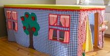 Present Ella / table tent / tafel tent. How to turn your table into a tent. So simple, but so cool for kids!  This is inspiration: I want to make one myself for Ella's birthday.