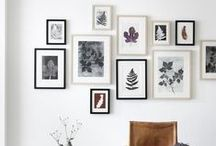 Frame Ideas for Wall / Ideas & inspiration for hanging art in your home.  Gorgeous gallery wall ideas, frame ideas and more.