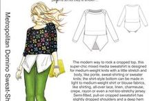 Inspiration: Domino Sweat-Shirt / ...versions of our new Domino Sweat-Shirt pattern http://www.hotpatterns.com/hp-1173-metropolitan-domino-sweat-shirt/