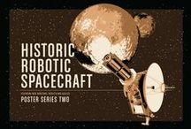 Historic Robotic Spacecraft Poster Series / A screen-printed poster series celebrating the most popular and most notable interplanetary robotic space missions. Crowd-funding on Kickstarter.