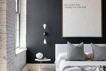 Black and White Decor / Black and white decorating inspiration, decor and tips.