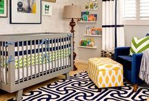 Kids' Rooms / A rug, a throw pillow, a blanket, baskets, a lamp, curtains, and wall art. / by Kara Richardson