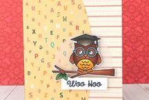 THEME: Graduation Paper Crafts / DIY Graduation Party ideas, Graduation cards & layouts, and Graduation announcements