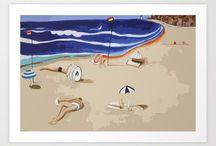 Monique Tyacke Artist / Monique Tyacke Australian Contemporary Artist #art #painting #drawing #ocean #sealife #moniquetyacke #australiaartist #society6 #etsy #graphic #pattern #design