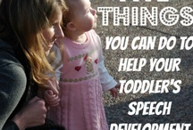 How to Help Your Child Talk / Tips to for parents and caregivers to help young children with speech and language delays.