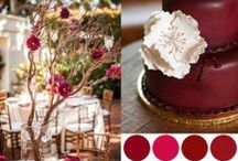 Red, Burgundy, Cranberry & Maroon Colored Weddings / by Events Beyond