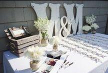 Guest Books, Wedding Escort/Place Card Table Ideas