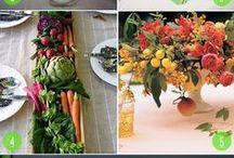 Fruit & Veggie Floral Arrangements/Table Decor / Farm to Table
