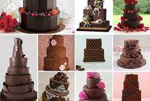 Chocolate, Brown, Black & Dark Wedding Cakes