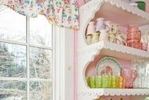 Romancing the Home / Home decor ideas from old Hollywood glamour to Shabby Chic, to decorating with vintage materials and flea market finds.  Romance and lace in many color palettes to make your house a home.