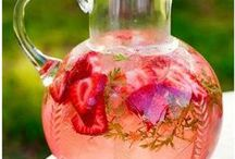 Summer Beverages / Indulgent cooling drinks for backyard parties, grilling outdoors, picnics, or relaxing with a good book.