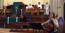 Church and Chapel Wedding Music Ideas / Ways to incorporate live music into your church wedding! Violin, cello, organ, piano, guitar, saxophone, bagpipes, singers...