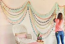 Garland / hanging patterns and shapes is really nice! / by Mercedes H