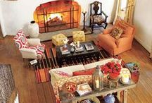"""Home - Living Room or Den / """"Be it ever so humble, there's no place like home."""" / by Ginger Brown"""