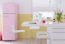 Cores ♥ Pastel / Ambientes e objetos em tons pastel // palavras-chave: faça você mesma, DIY, inspiração, decoração, pintura, cor, paleta, pastel, pasteis / by dcoracao - decoração e DIY
