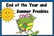 End of the Year and Summer Freebies / A Pinterest Board full of freebies for the end of the year activities and summer months of learning!
