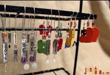 Jewelry / From earrings, to necklaces, to jewelry holders. These spunky accessories are great for expressing yourself. Each made from recycled metal and powder-coated in a variety of colors.