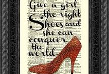 Give a girl the right shoes, and she can conquer the world. (Shoes & Handbags) / by Katrina Schmidt