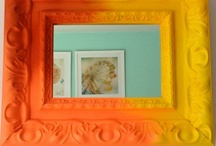 ETSY store - the lacquer collection / the mirrors & vintage frames in this board have been repurposed and revived w/ paint, glitter & an (un)healthy dose of epoxy resin.  #recycle #repurpose #upcycle #howto #etsy #vintageframes #homedecor #brightcolors