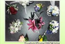 Prom Flowers - Designs for 2014 / The Latest designs in Flowers for Prom from Ziegfield Florist & Gifts. Flowers, colors, styles, accents.