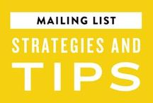 Email List Strategies + Tips