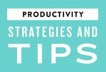 Productivity Strategies + Tips / How to get more done and be more organized!