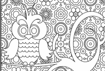 Coloring pages, mandala, dot dot & mazes / by Lisa