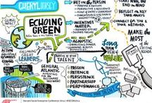graphic facilitation/illustration / fun and groovy samples of my fab day job