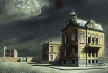 """Carel Willink / Albert Carel Willink (7 March 1900 – 19 October 1983) was a well known Dutch painter who called his style of Magic realism """"imaginary realism"""". A beautiful collection of paintings is shown in the museum More https://www.museummore.nl in the castle at Ruurlo. Great place to visit!"""