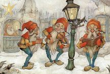 Anton Pieck / Anton Franciscus Pieck (Den Helder, 19 April 1895 – Overveen, 24 November 1987) was a Dutch painter, artist and graphic artist. His works are noted for their nostalgic or fairy tale-like character and are widely popular, appearing regularly on cards and calendars.