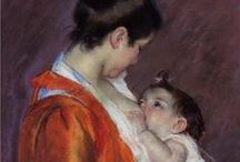 Motherhood in art / Artwork showing the most precious relationship in your life: mother and child / by Galina Varese