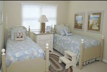 Avalon Summer Rental / Welcome to American Country Home Store's designer showcase!   This charming shore property has been completely refurbished with bedding collections, living and dining room furniture, custom window treatments and accessories from American Country.  Pine furniture, cottage slipcovered sofa & chairs, clocks and prints pull this look together.